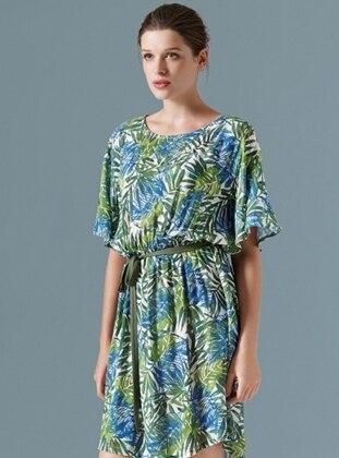 Elbise - Yesıl Palmıye
