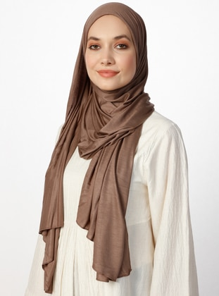 Jersey Combed Cotton Shawl - Viscose - Mink