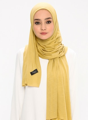 Jersey Combed Cotton Shawl - Viscose - Green