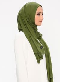 Jersey Combed Cotton Scarf - Green
