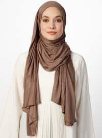 Jersey Combed Cotton Shawl - Mink