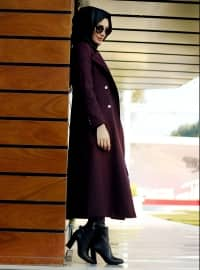 Belinay Coat - Maroon