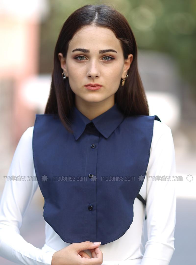 Shirt Collar Neckwear - Navy Blue