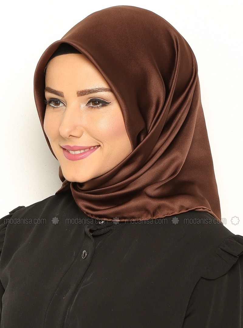 Royal Silk Scarf - Brown - Misirli