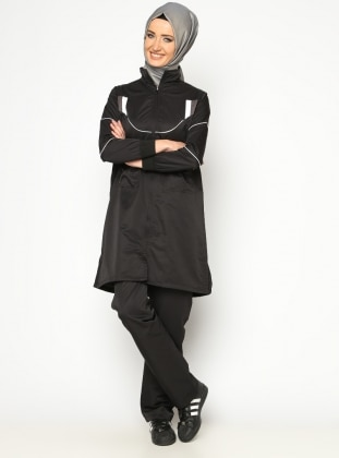 Polo neck - Black - Tracksuit Set