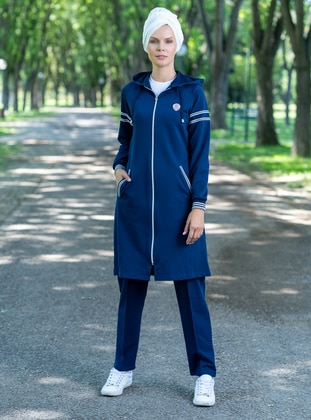Navy Blue - Tracksuit Set