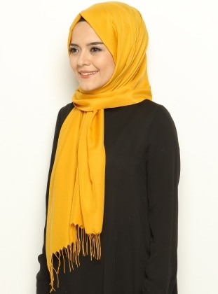 Yellow - Plain - Shawl