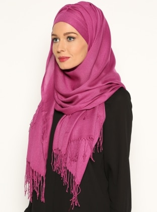 Pashmina Belted Semi-Instant Headwear - Lilac