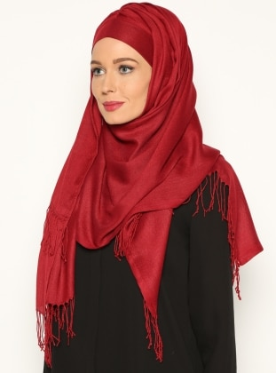 Pashmina Belted Semi-Instant Headwear - Burgundy