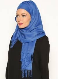 Pashmina Belted Semi-Instant Headwear - Blue