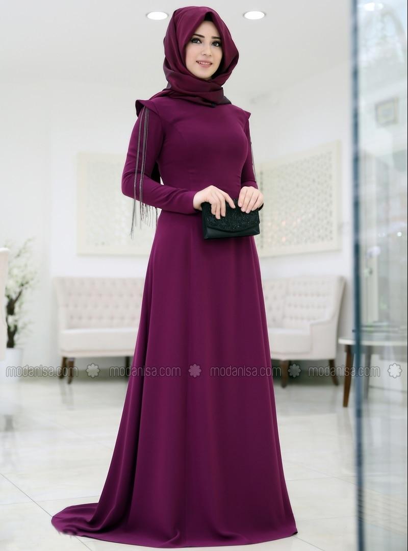 Related pictures armine tak elbise tesett abiye modelleri - B Ra Zincirli Abiye M Rd M Somfashion
