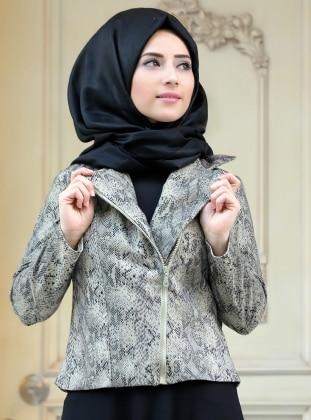 Zehrace Çağla Ceket - Siyah