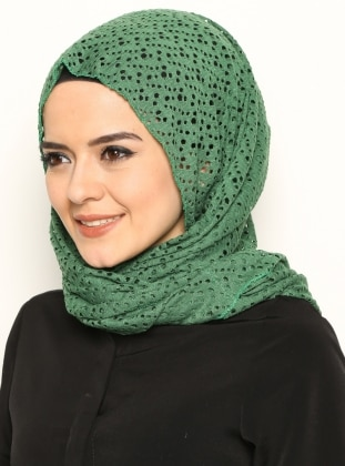 Şal&Boyunluk - Yeşil Daisy Accessory