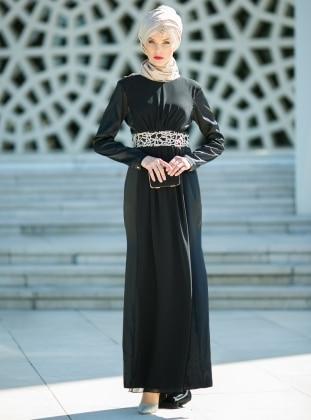 Dersaadet Balık Abiye Elbise - Siyah