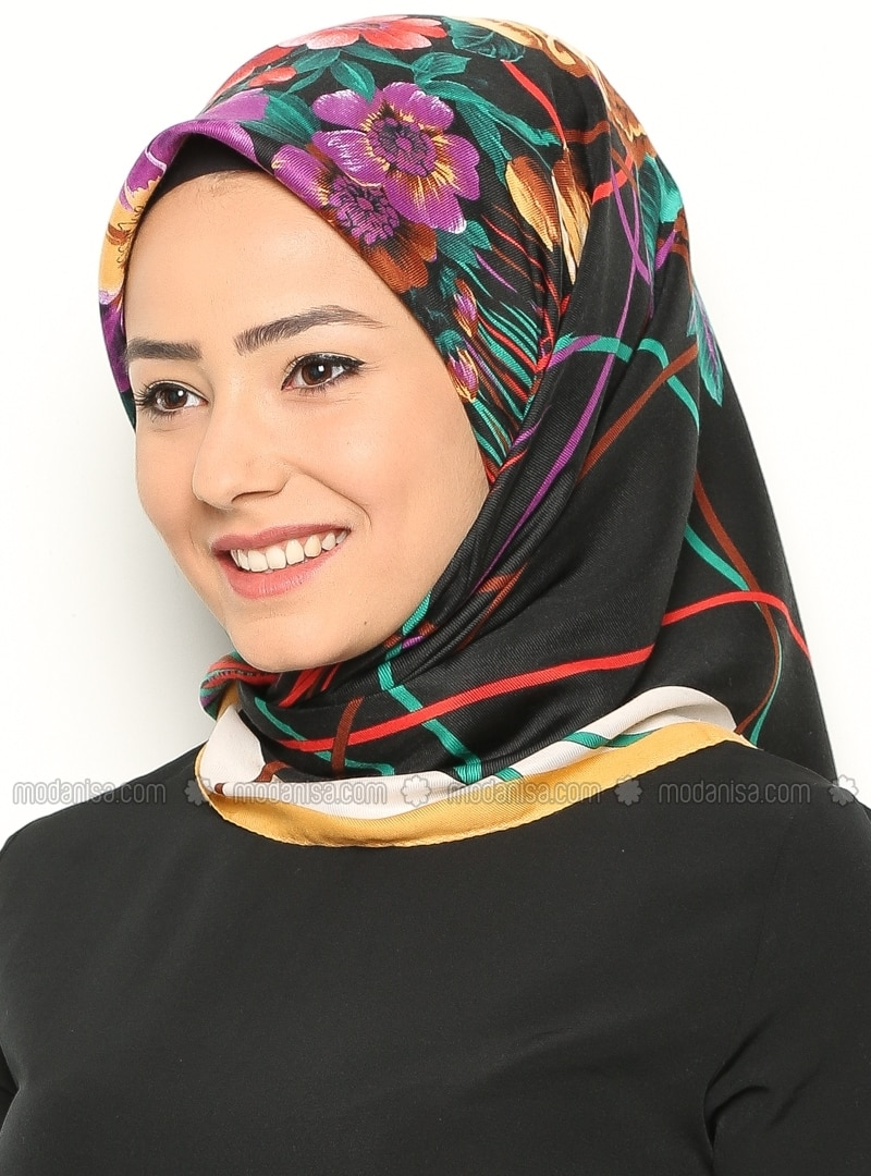 Patterned Scarf - Gold - Scarves - Modanisa