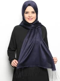 Double Sided Scarf - Navy Blue - Mervin Sal