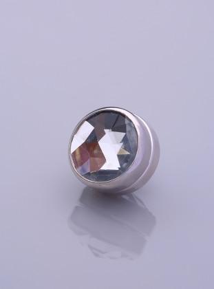 Scarf Magnet - Ice Blue - Silver-Plated Frame - Fsg Taki