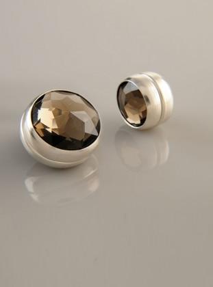 Scarf Magnet - Mink - Silver-Plated Frame - Dual Set - Fsg Taki