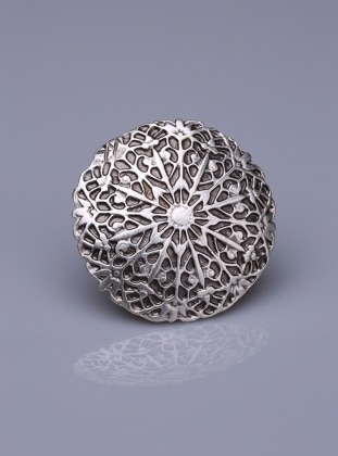 Gümüş Kaplama Mıknatıslı Broş Fsg Takı