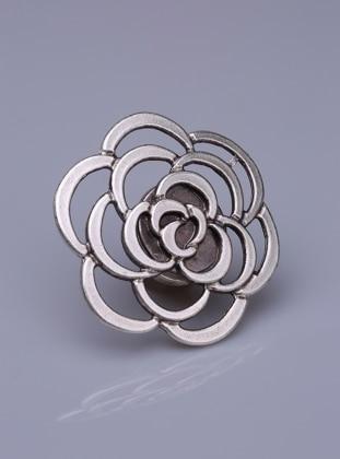 Magnet Brooch - Silver-Plated - Medium - Fsg Taki