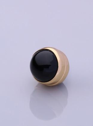 Scarf Magnet - Black - Gold-Plated Frame - Fsg Taki