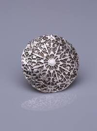 Gümüş Kaplama Mıknatıslı Broş - Fsg Takı