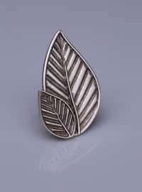 Magnet Brooch - Silver-Plated - Medium - Fsg Taki