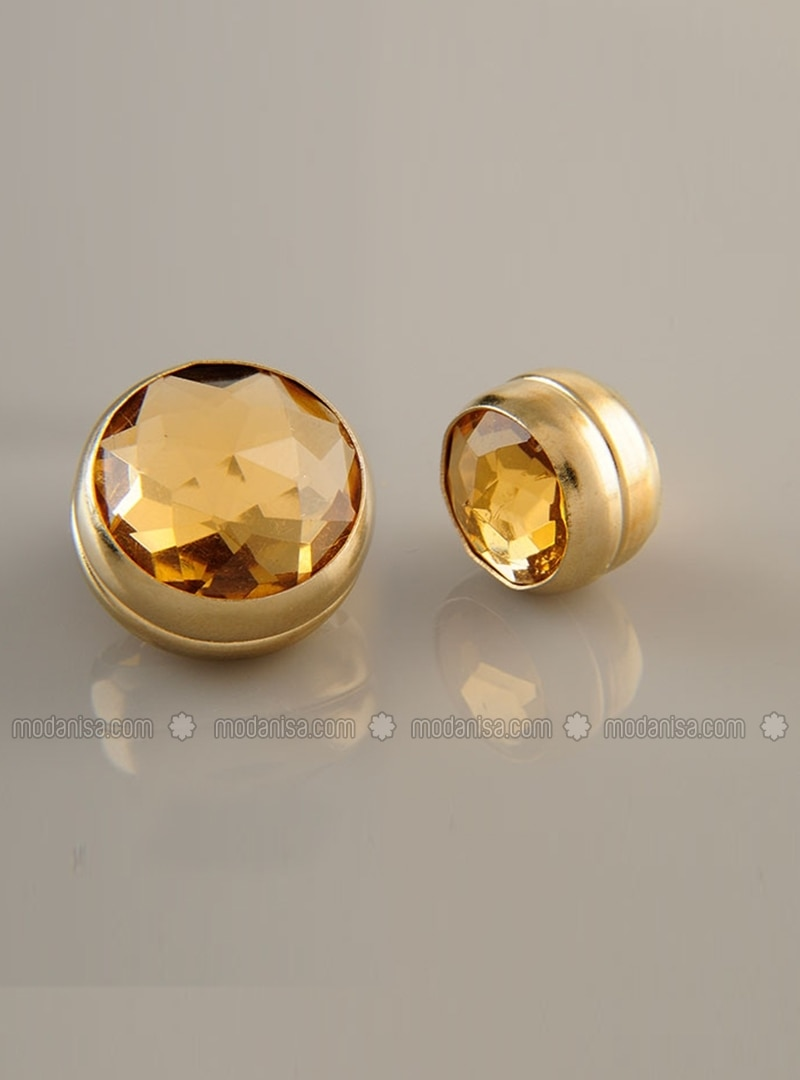 Scarf Magnet - Beige - Gold-Plated Frame - Dual Set - Fsg Taki