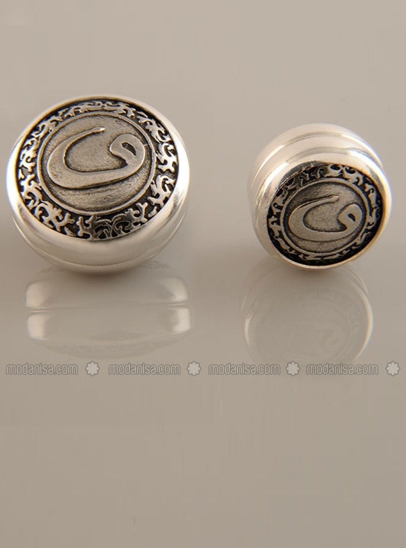 Scarf Magnet - Silver-Plated - Dual Set - Fsg Taki