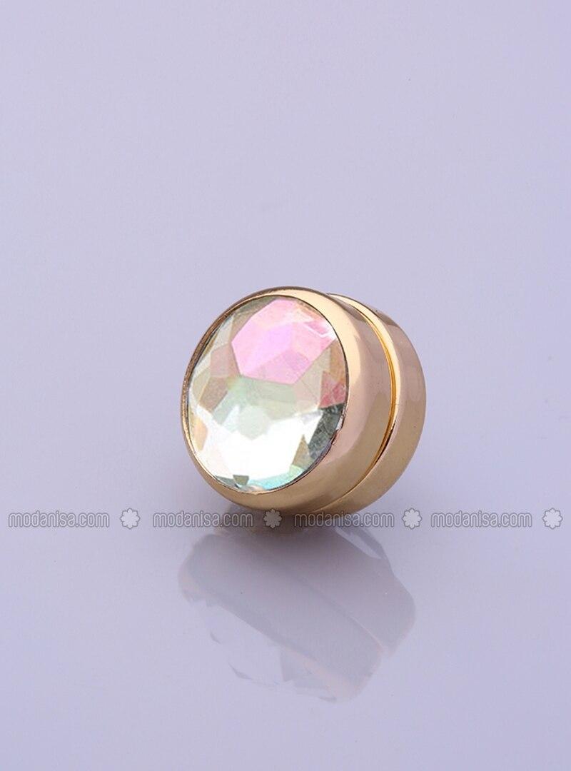 Scarf Magnet - Flashy - Gold-Plated Frame - Fsg Taki