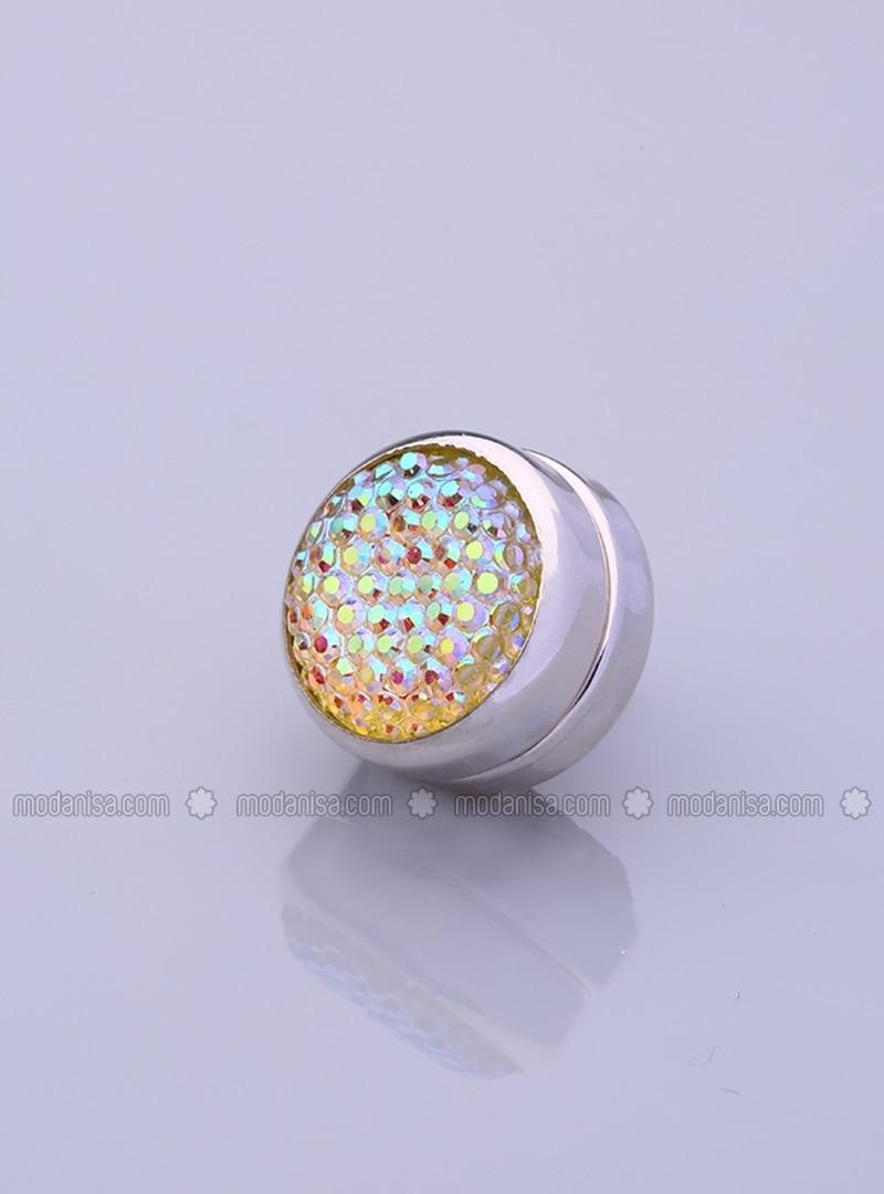 Scarf Magnet - Flashy - Silver-Plated Frame - Fsg Taki
