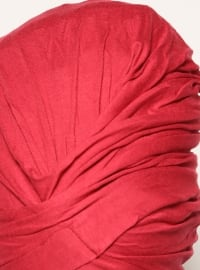 Maroon - Cotton - Plain - Pinless - Instant Scarf