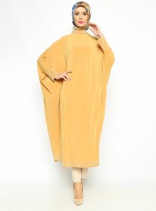 Taşlı Tunik Ferace - Safran Güzel Moda
