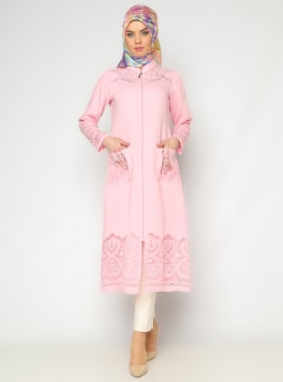 CML Collection Fermuarlı Kap - Pembe