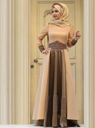 Kaftan Abiye Elbise - Gold Zehrace