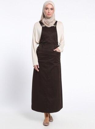 Salopet Elbise - Kahve Neways