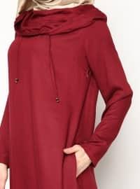 Hooded Dress - Maroon