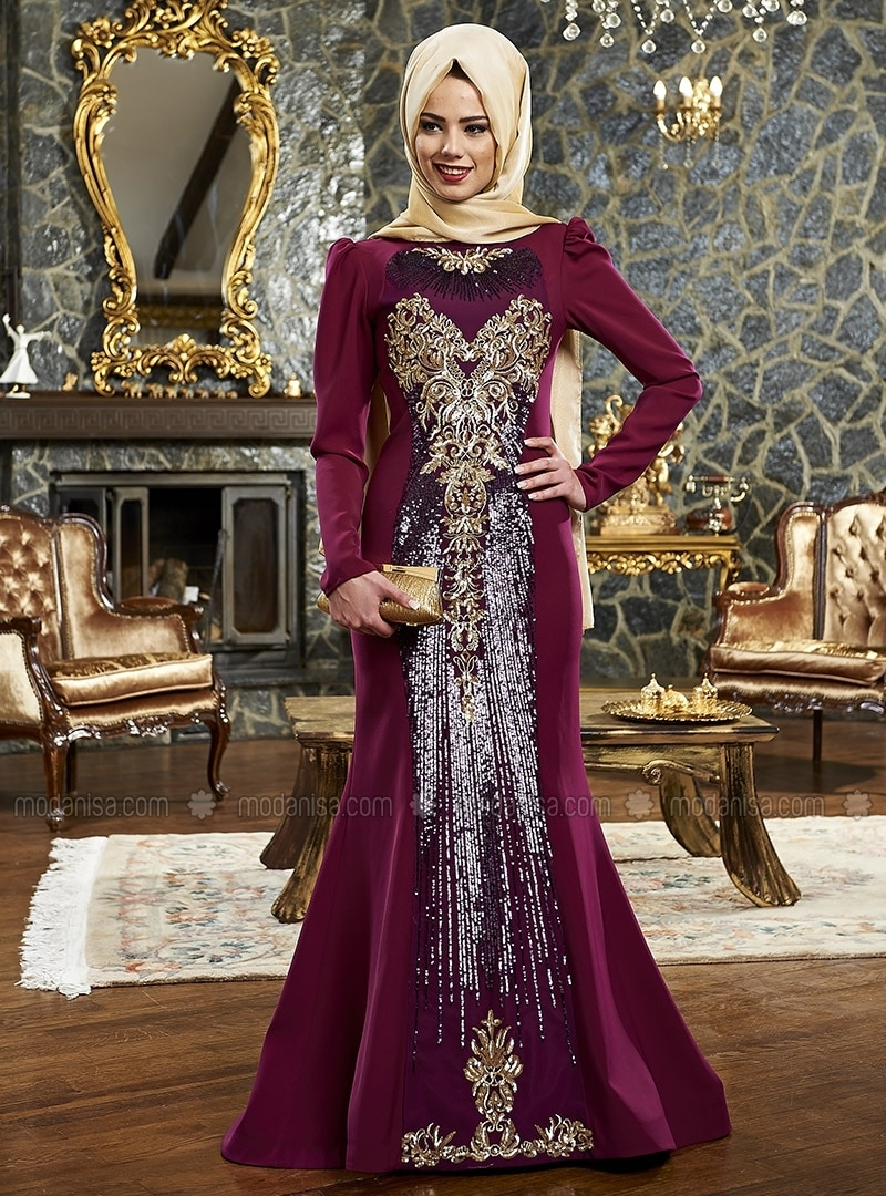 Mırsa Evening Dress - Plum