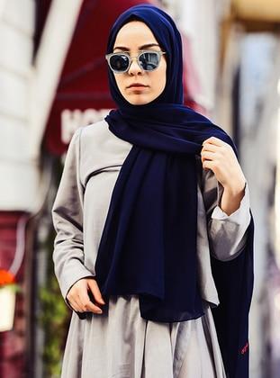 Alya Shawl - Navy Blue -  Esarp