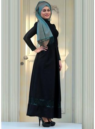Zehrace Haren Abiye Elbise - Zümrüt