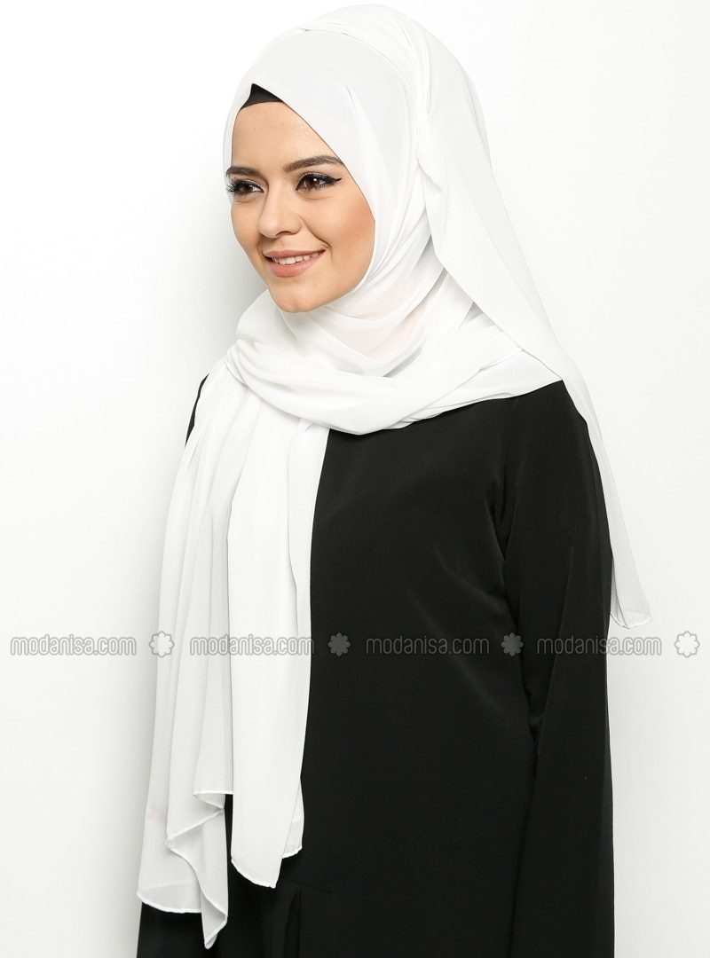 Alya Shawl - White -  Esarp