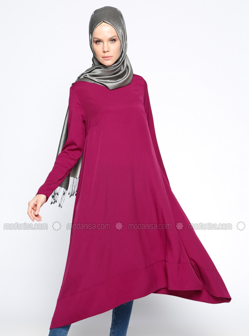 Purple - Crew neck - Tunic