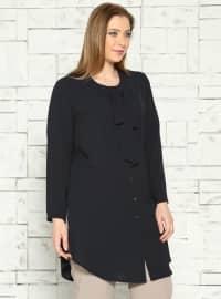 Buttoned Tunic - Black