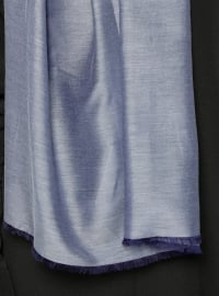 Plain - Purple - Cotton - Silk Blend - Shawl