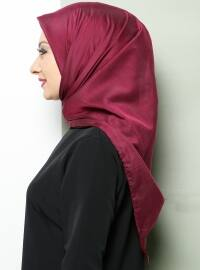 Plain Silk Cotton Scarf - Plum