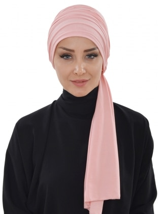 Cotton - Powder - Plain - Instant Scarf