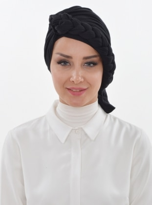 Black - Simple - Instant Scarf