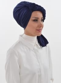 Navy Blue - Simple - Instant Scarf