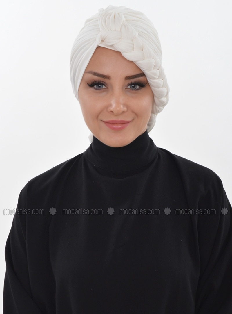 Simple - White - Instant Scarf