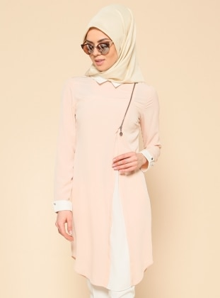 Pointed Collar Tunic - Powder - Puane 185346
